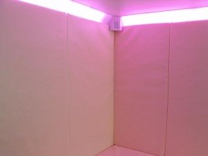 Padded Walls and Colour Changing Lighting in Breakout Room